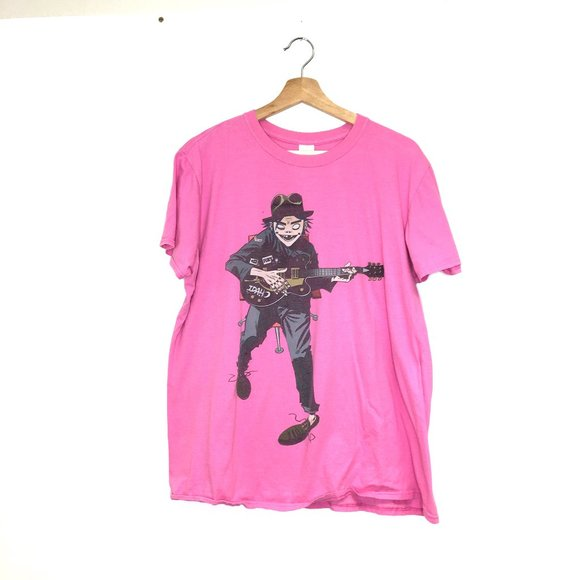 Gildan Tops - Gorillaz band graphic tour t-shirt idaho guitar